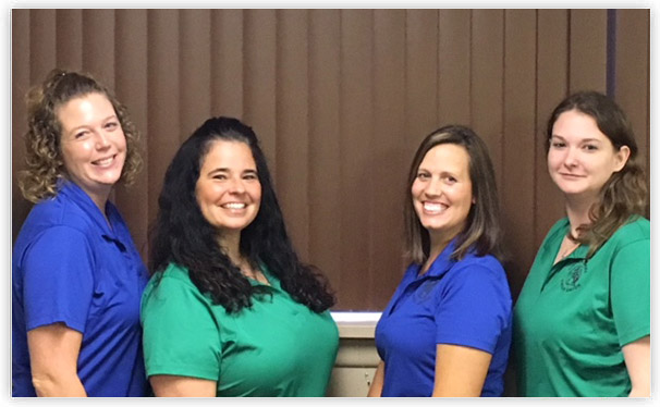 Office staff - Mandi, Michelle, Amy, Amanda